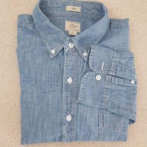 Jcrew  slim chambray button down woven shirt XL